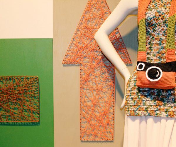 Exposición piezas en Pitti Filati