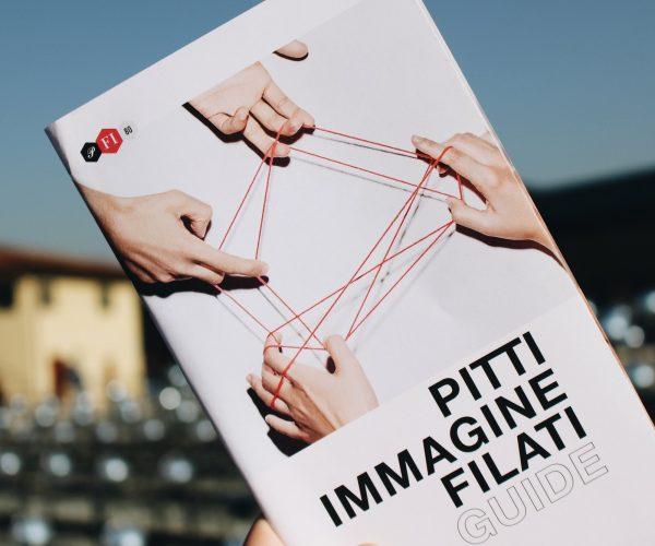 Flyer feria Pitti Immagine Filati